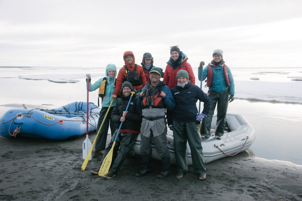 A rafting trip through the Arctic Refuge (which is on the verge of being opened for drilling). Photo credit Kiliii Yuyan.
