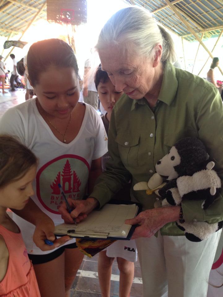 Isabel Wijsen with Jane Goodall.
