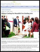 Ribbon Cutting for Beautiful You Healing Arts with Mayor Mark Epley        Hamptons.com July 1, 2009