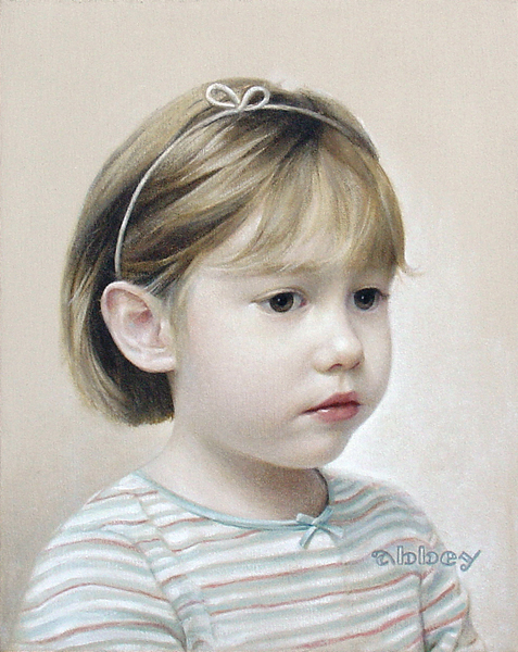 "Abbey, oil on canvas, 11"" x 14"", 2005"