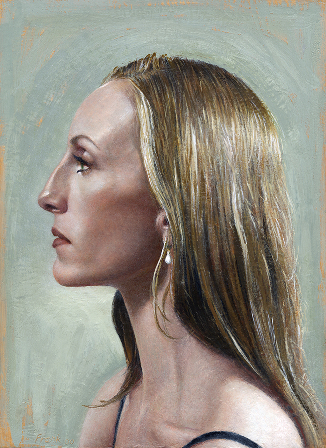 "Wendy Whelan, encaustic beeswax on wood panel, 11"" x 14"", 2000-2007"