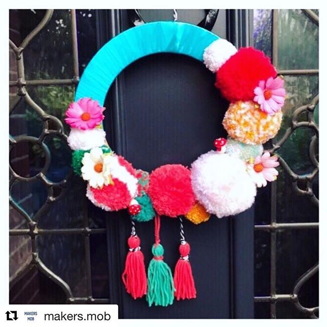 #Repost @makers.mob ・・・ Oh hello... Pom Pom wreath workshop at Boyden's Kitchen with the Maker's Mob. ✨ ✨ DETAILS: When: Wednesday 5th Dec 2018 Time: 7.30 to 9.30 Where: Boyden's Kitchen, N11 3EH Cost: £30 including welcome drink and nibbles  Ticketed Event: see below  https://littledotloves.com/products/pom-pom-wreath-workshop  Pom Pom merrily on high... ...or low, or just about anywhere you fancy!! We have been going Pom Pom mad @makers.mob ✨ ✨ We have put together a holiday wreath workshop, although you can customise for the whole year if you fancy! A wreath isn't just for Christmas!! ✨ ✨ See bio in link for details ✨ ✨ #makersmob #ldlcommunity #yourtribe #lovewins #northlondon #handmadechristmas #selfcare #crossstitchitsfun #mentalhealthmatters #showyoursparkle #happinessproject #craftyfeatures #livelifecolorfully #yourtribe #kindnessmatters #positivemind #nicegirlgang #modernmaker #makersgonnamake #happinesscurator #tinybutmighty #crossstitchersofinstagram  #crossstitchaddict #nicegirlsneedleclub #creativityheals #doseofhappiness #littledotloves ✨ ✨
