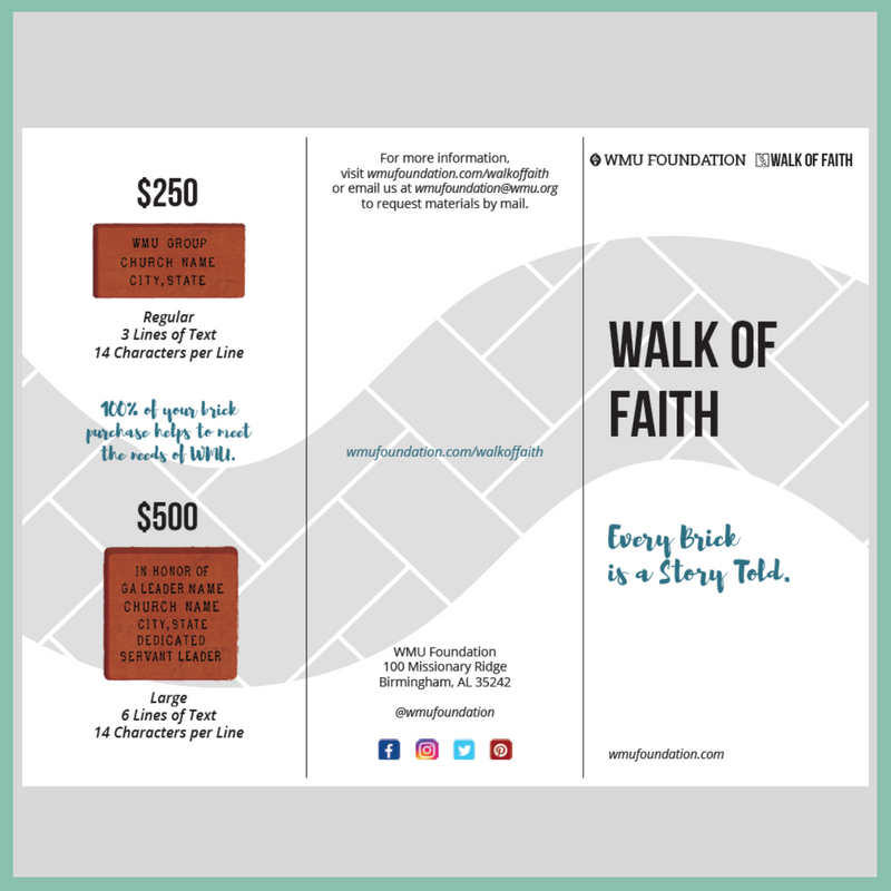 Walk of Faith Brochure
