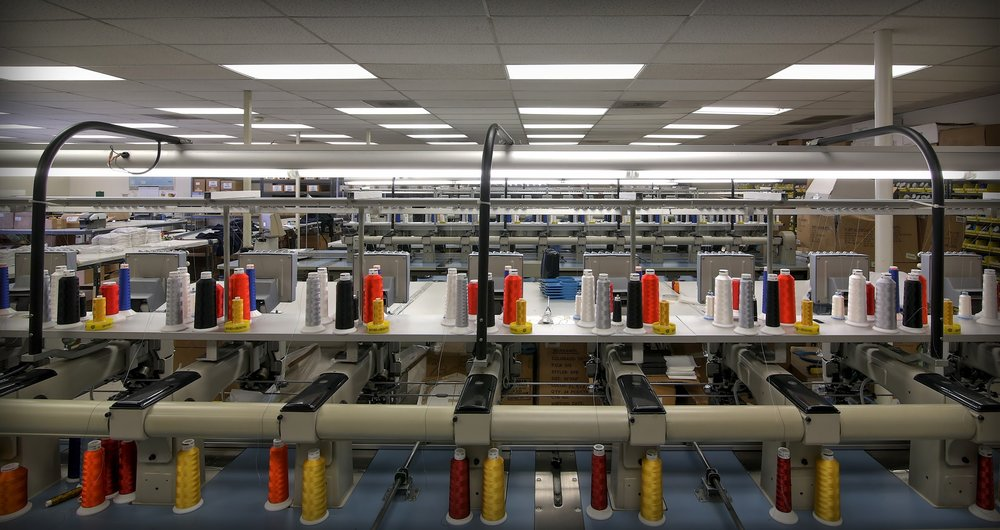 Embroidery Machines, Thread, Custom, San Diego Facility, Madeira, Gunold, Caps, Hats, T-shirts, Polo Shirts, Jackets, Blankets