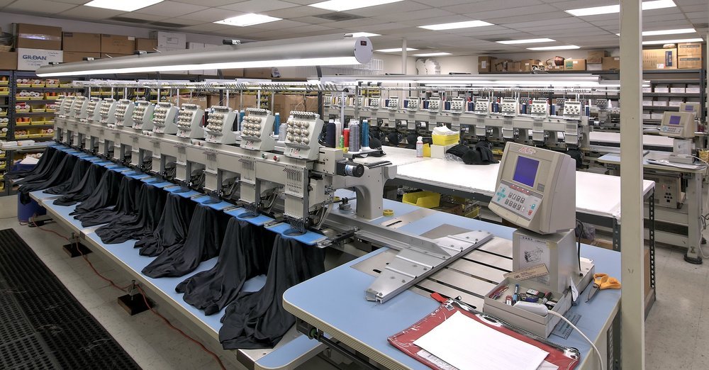 Embroidery Machines, Custom T-Shirts, Custom Polo Shirts, Thread, Custom Hats, San Diego Facility, Bermuda, Promotional Apparel, Promotional Products, Del Mar, North County