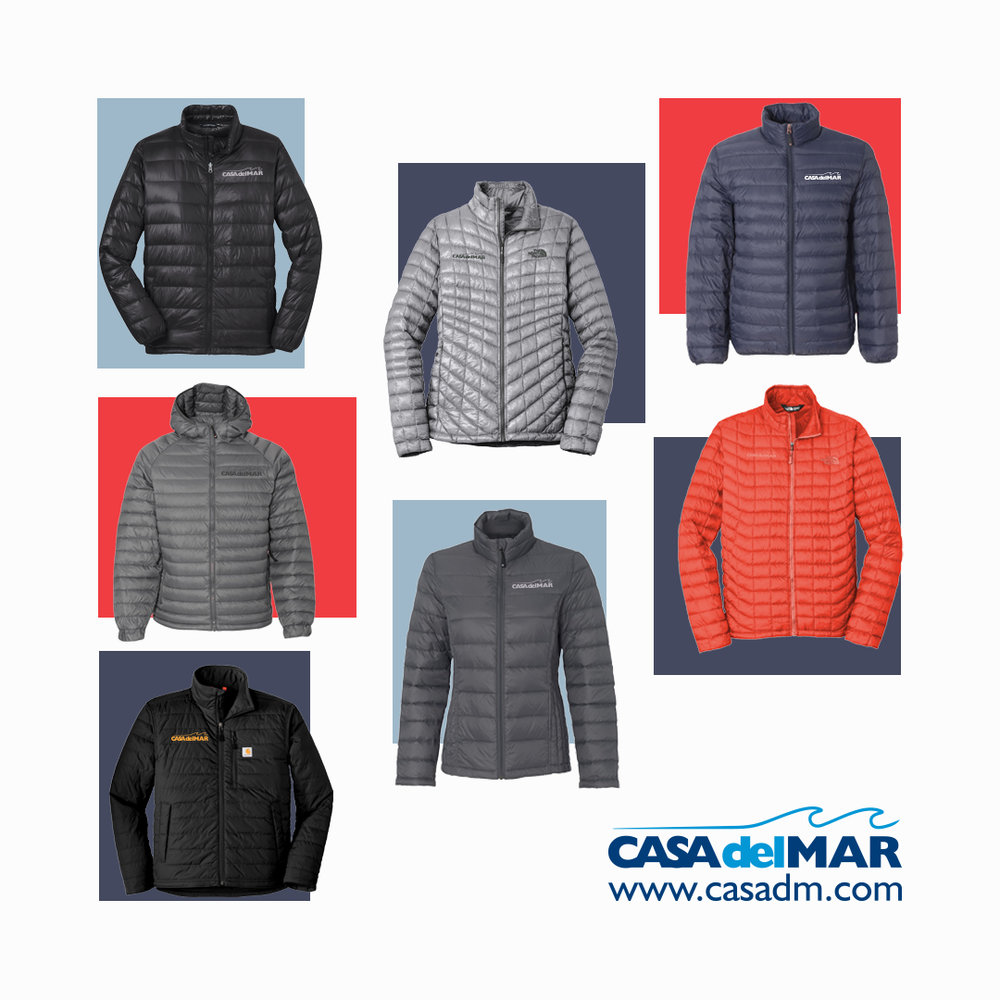 Jackets, Embroidery, San Diego, California, Del Mar, The North Face, Carhartt, Promotional Products