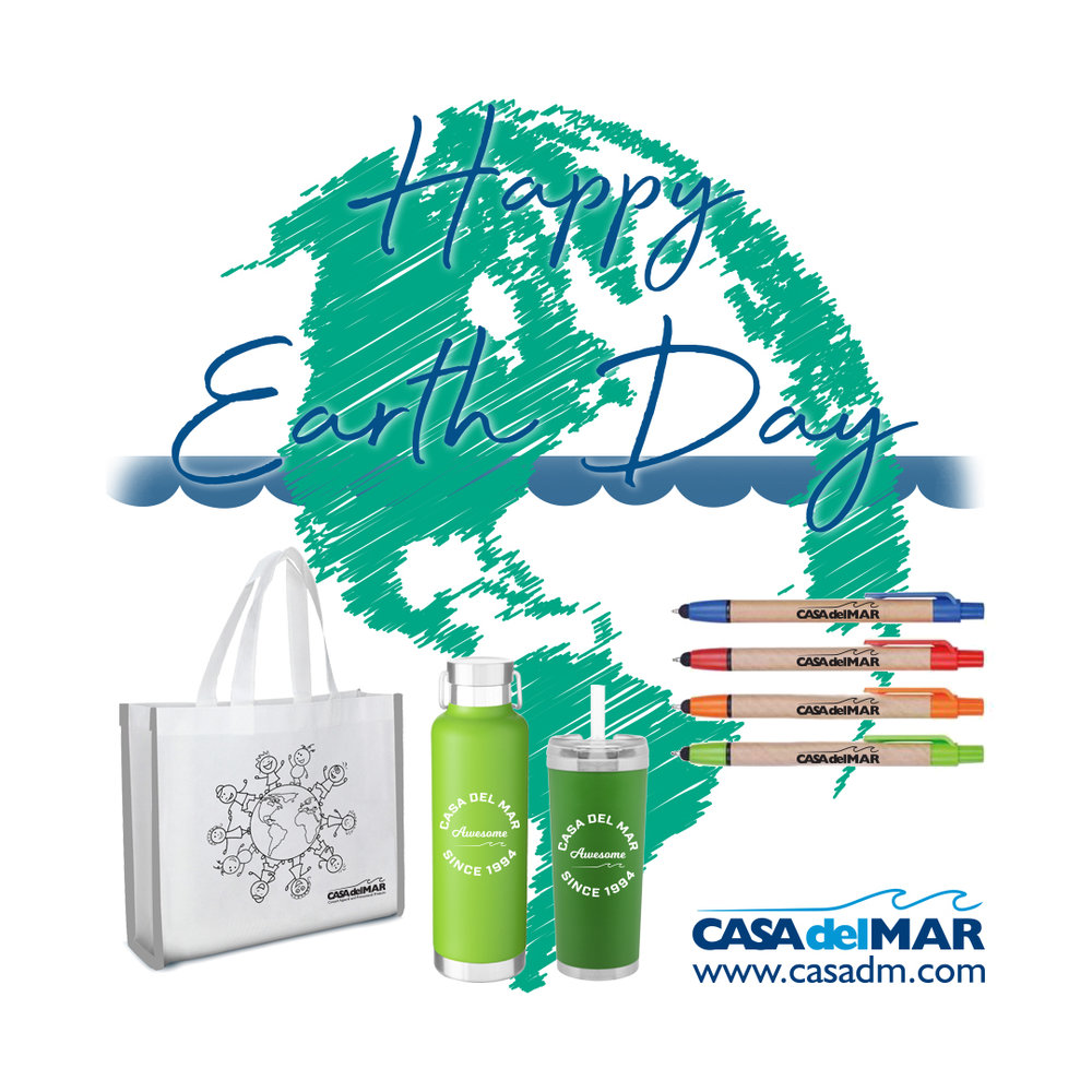 earth day, earth day 2019, embroidery, screen printing, san diego, california, promotional items, apparel, custom, earth friendly, environmentally friendly