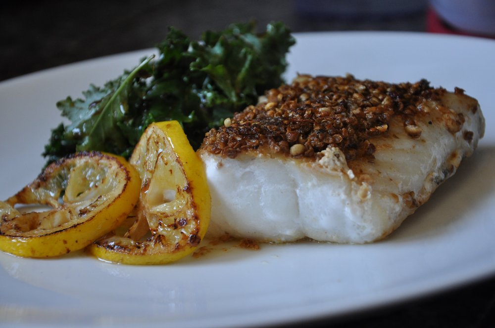- MSC Cod pan-roasted with spice crust