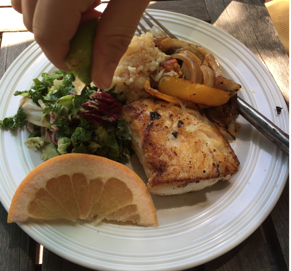 - SAUTÉED MSC haddock with kale & Citrus salad