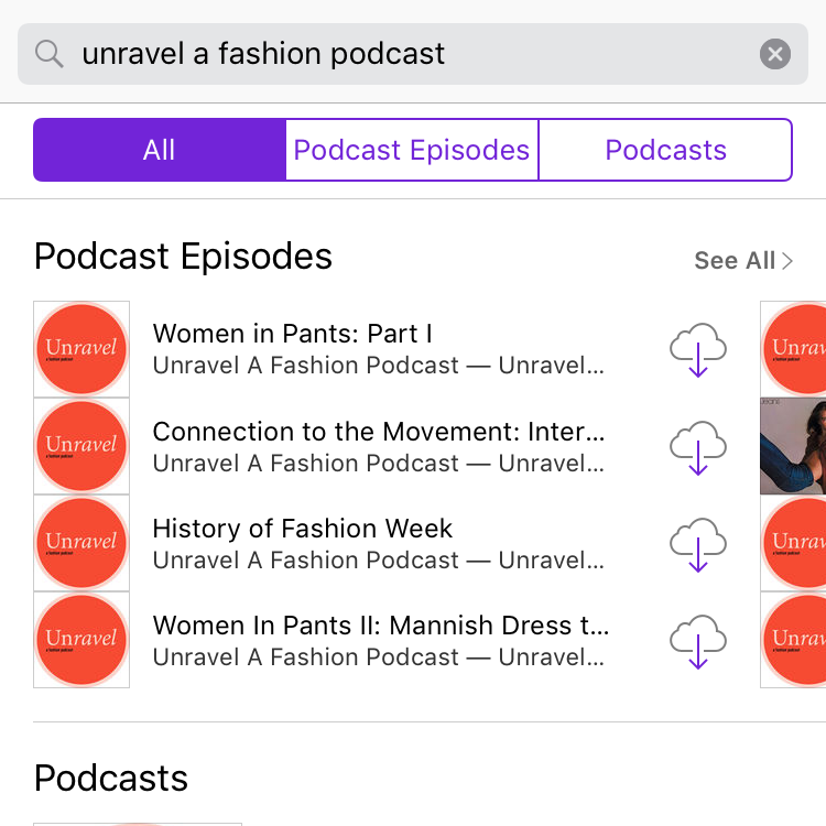 Search for Unravel A Fashion Podcast