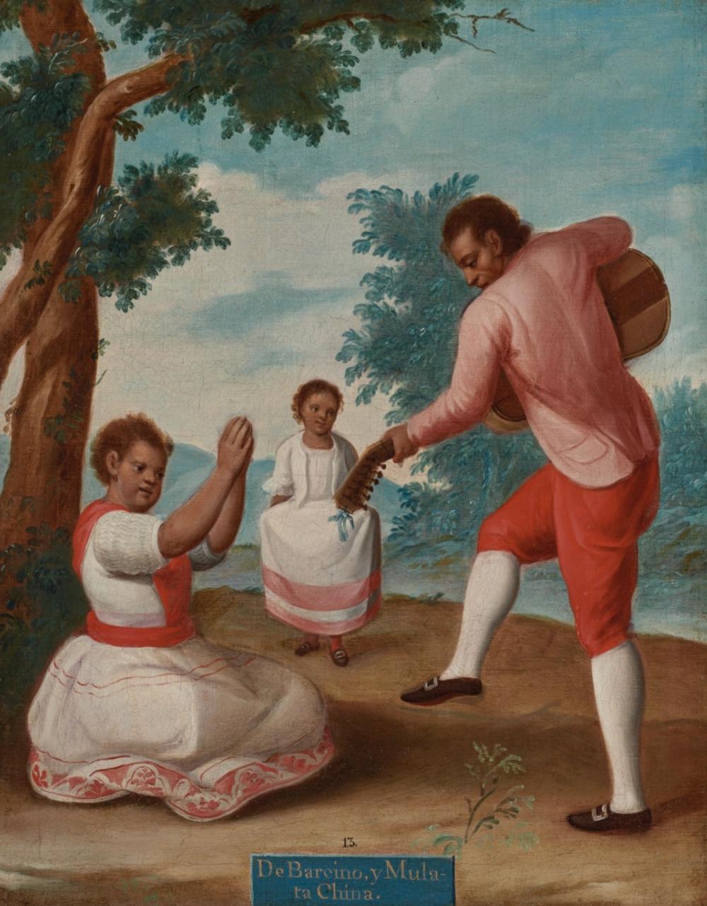 """Francisco Clapera, """"DE BARCINO, Y MULATA, CHINA"""", 1775"""