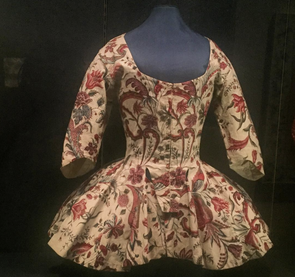 Printed Bodice at Colonial Williamsburg