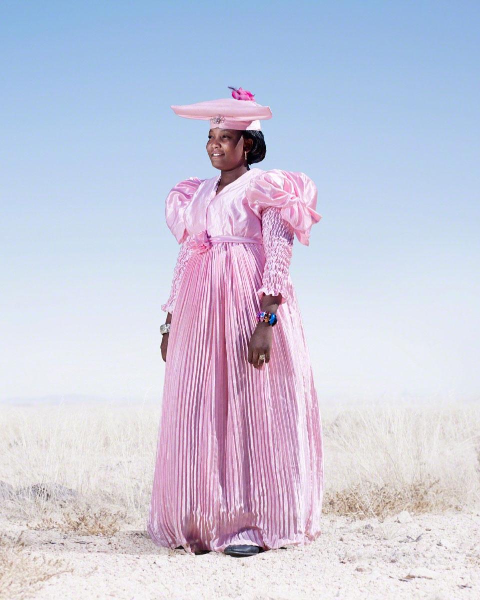Herero woman in pink dress