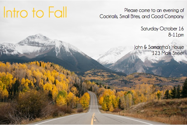 intro to fall invitation photo: dttsp