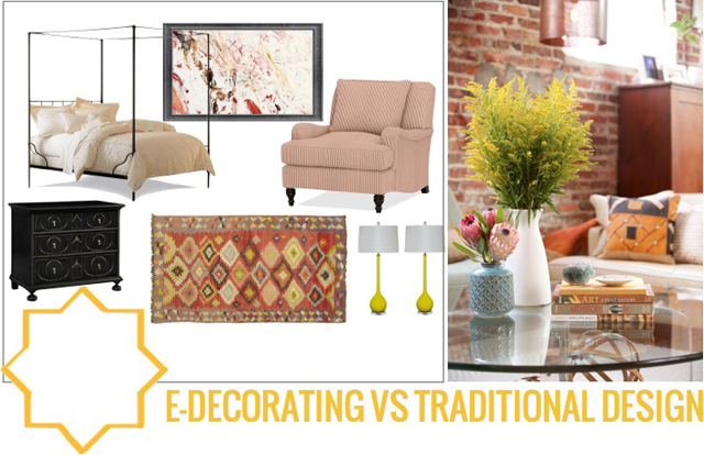 edecorating vs traditional interior design