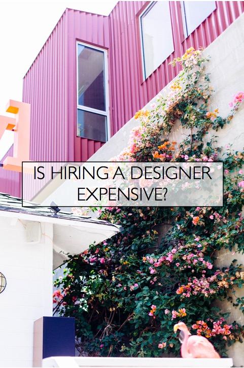 is hiring a designer expensive? photo credit: dttsp
