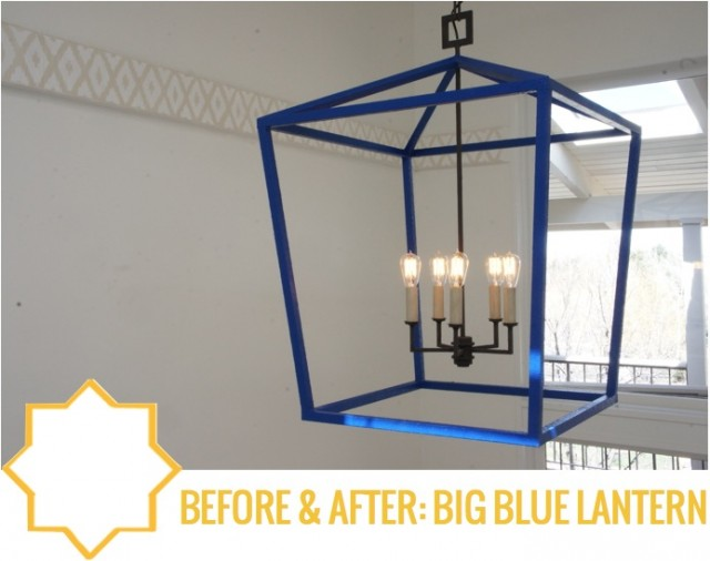 Before & After Big Blue Lantern by Capella Kincheloe