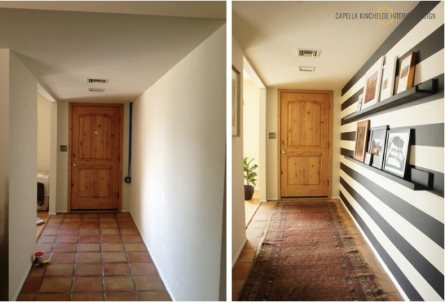 before and after home interior design