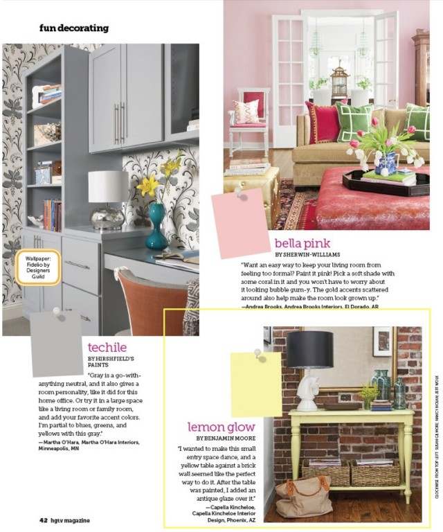 HGTV Magazine Sept 2013 Lemon Glow