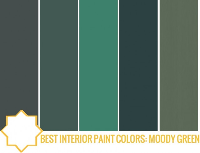 best interior paint moody green on capella kincheloe