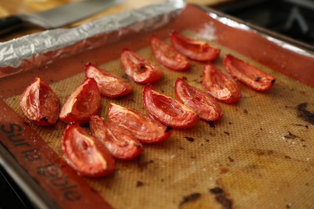 roasted tomatoes for mediterranean grain salad by capella kincheloe interior design