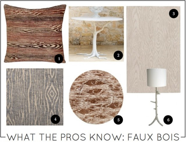 What the Pros Know Faux Bois on Capella Kincheloe Interior Design Phoenix
