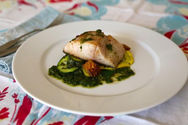 Recipe Summer Squash Gratin with Butterfish on Capella Kincheloe Interior Design
