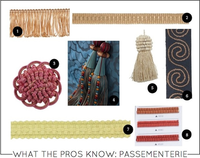 What the Pros Know Passementerie on Capella Kincheloe Interior Design Phoenix