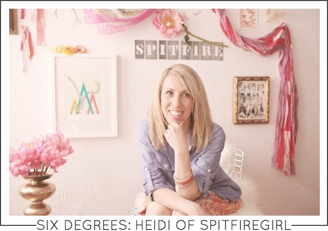 Six Degrees Heidi Yager of Spitfiregirl featured on Capella Kincheloe Interior Design