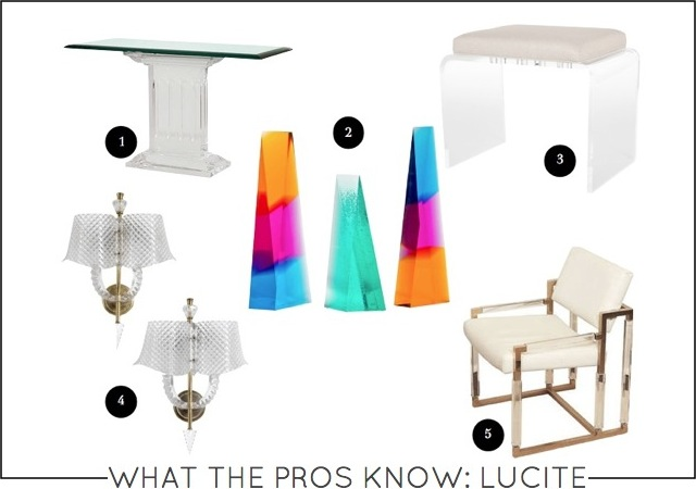 What the pros know lucite on capella kincheloe interior design