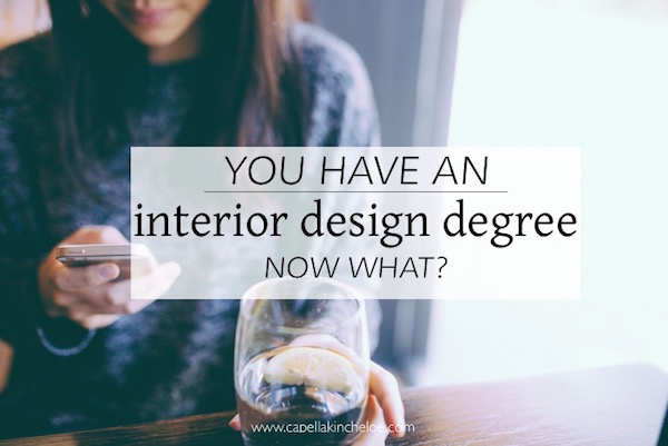 you have an interior design degree now what?