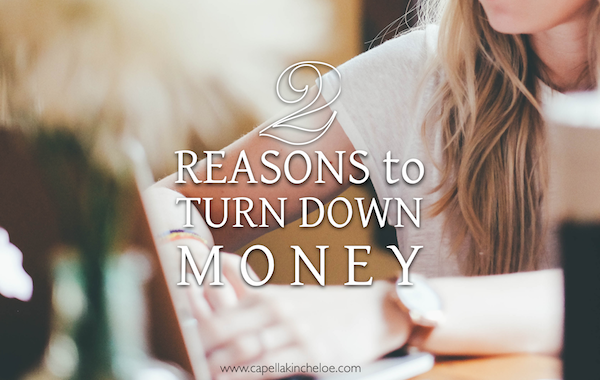 2 reasons to turn down money for interior designers