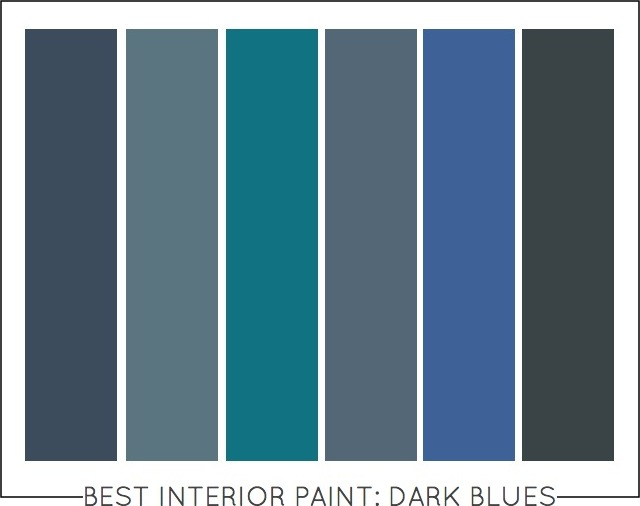 BEST INTERIOR PAINT COLORS DARK BLUES Capella Kincheloe