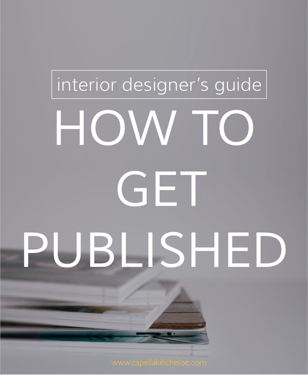 Want to know how to get your projects into shelter magazines?  Look no further than the interior designer's guide to getting published.
