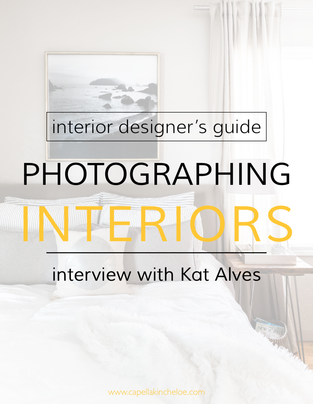 Wondering how to get your interior design projects to look as good as they do in magazines?  Professional Interiors Photographer Kat Alves shares her tips and tricks to photographing interiors.