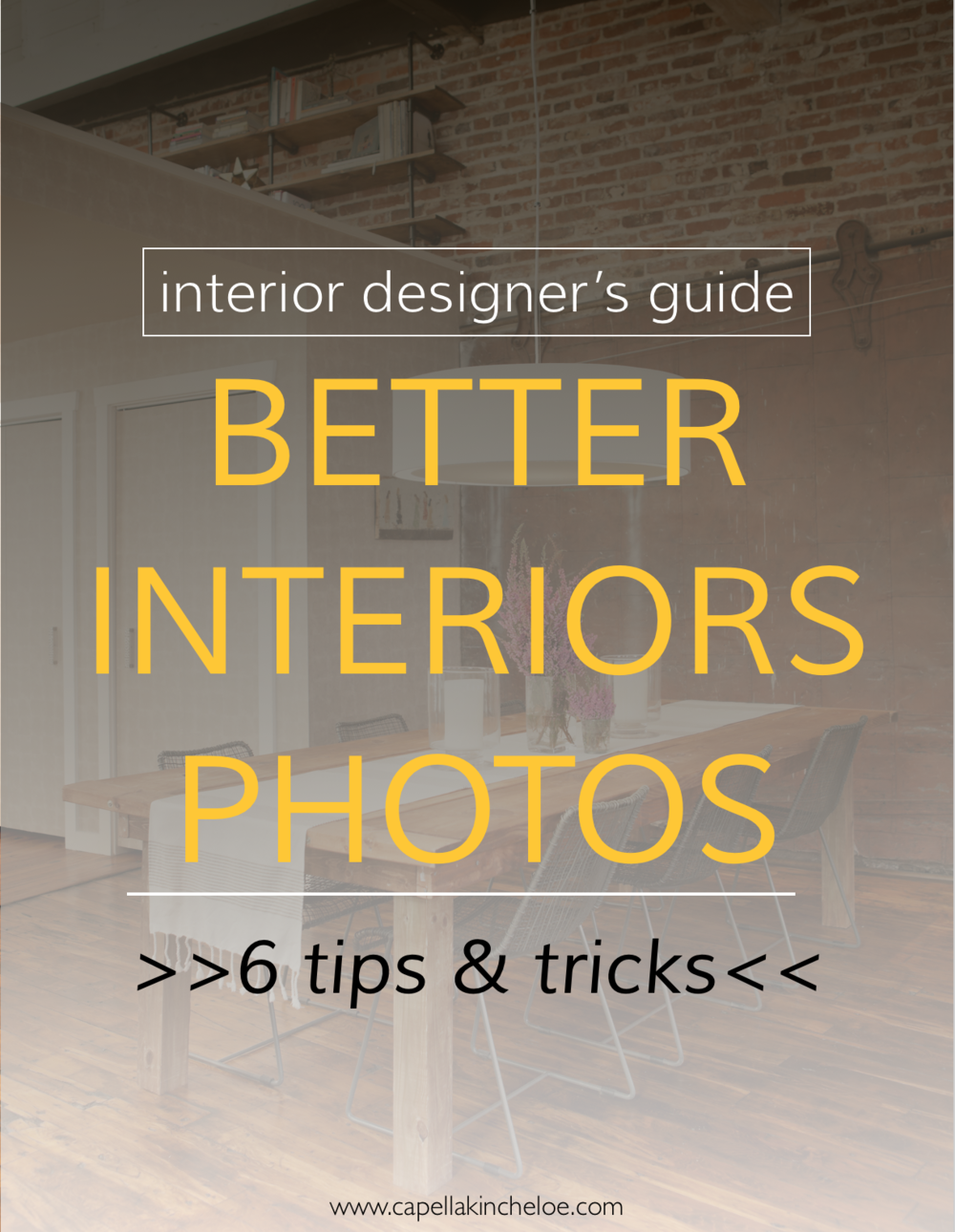 We all want our interior design projects to look the best they can.  Here are six tips and tricks to the best interior design photos.