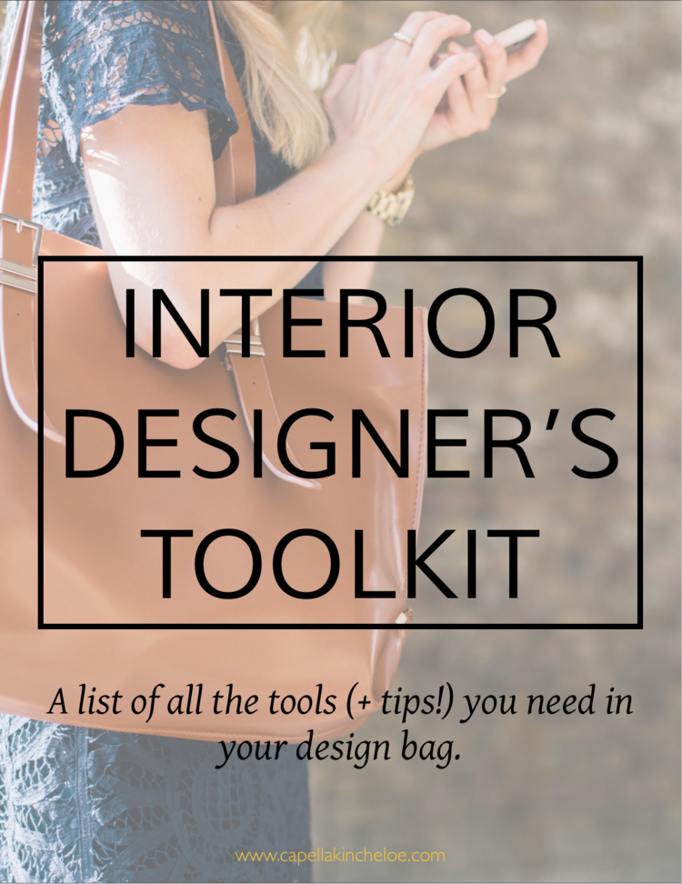 a big list of tools with tips that you need for your interior design toolbag - Interior Design Tools