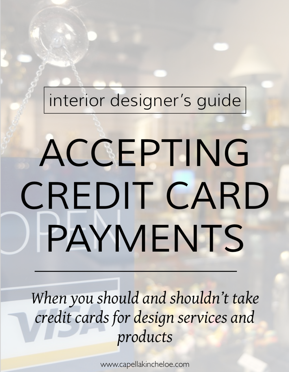 Deciding whether to take credit cards in your business is a critical business decision.  Learn how this can affect the running of an interior design business.