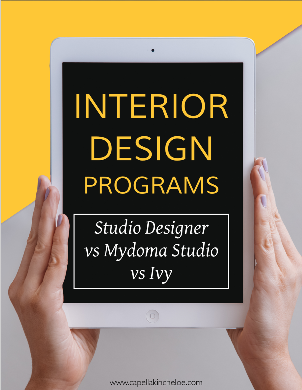 Interior Design Project Management Programs.  Which one is right for your interior design business.  See a side-by-side comparison of Studio Designer vs Mydoma Studio vs Ivy