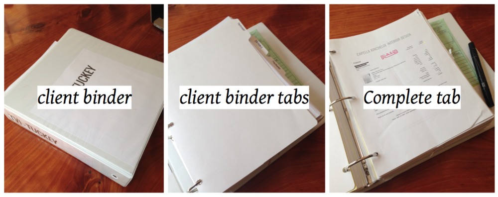 peek inside interior design client binder project management