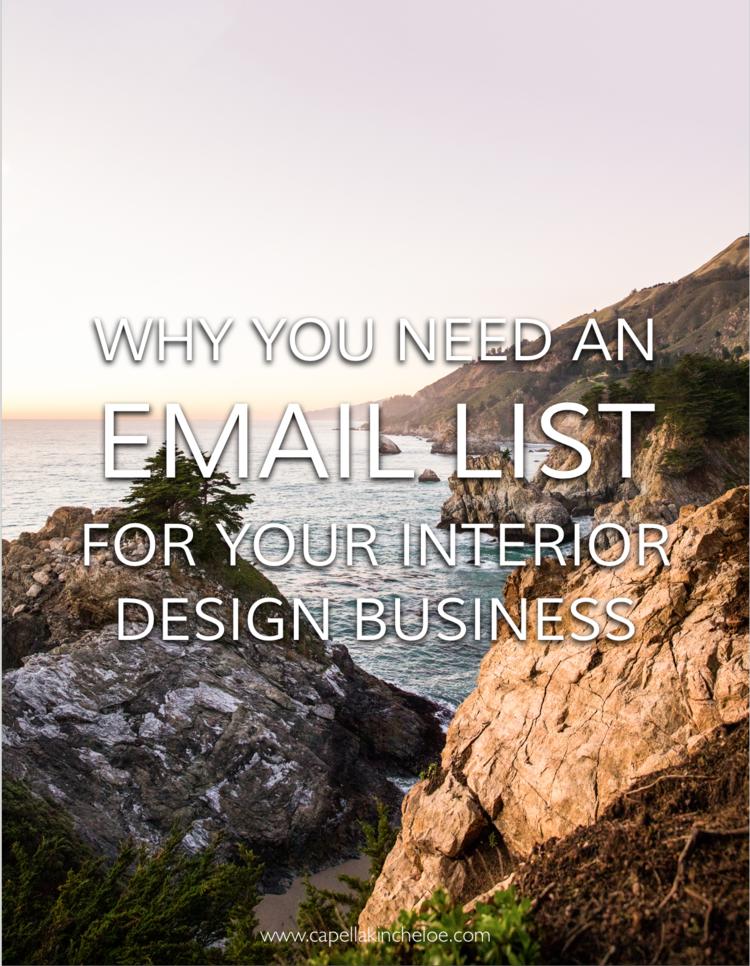 Email Marketing for Interior Designers — Capella Kincheloe