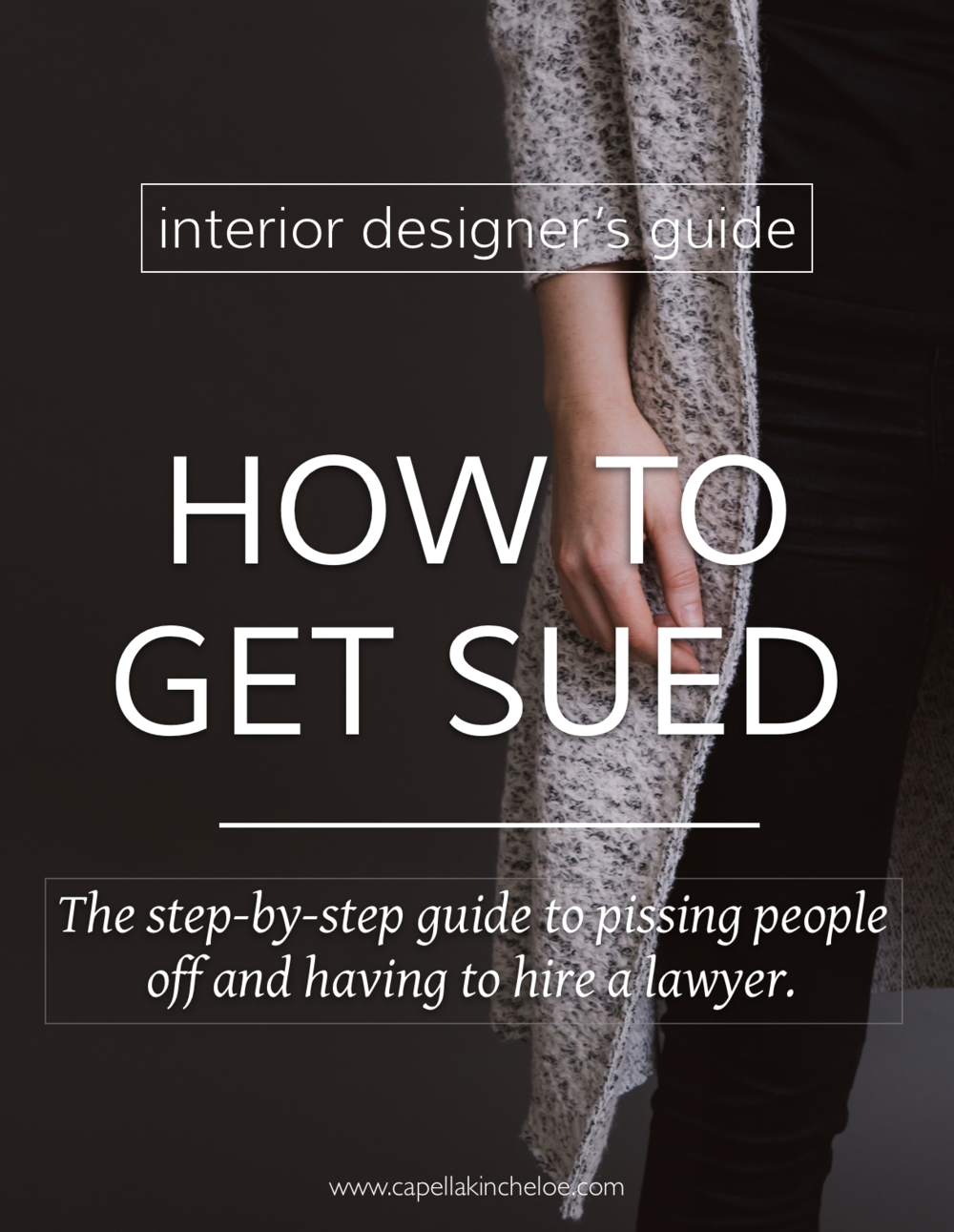 Alright, I know that you don't want to be sued.  But there are big glaring mistakes and holes you may be digging in your interior design business that could lead you straight to a courtroom.  I don't want you to have to hire a lawyer to defend you.  So don't do these 5 things.
