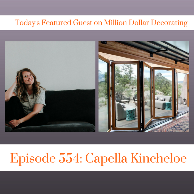 Listen to the interior design world of Capella Kincheloe on Million Dollar Decorating Podcast.  Topics covered include business of interior design, pricing interior design, mice, cookbooks, and how I'd spend $1000.  #interiordesignbusines #thegoldenblueprint #cktradesecrets