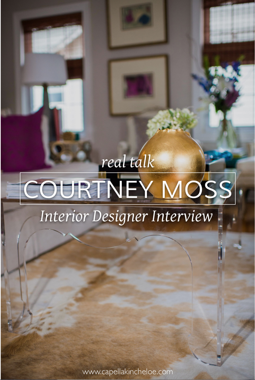 real designer interview with Courtney Moss from Pop! Lifestyle and Design.  Learn about how she runs her #interiordesignbusiness