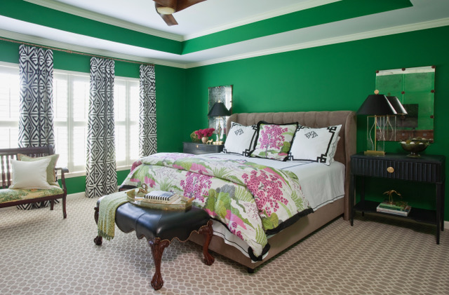 Green Bedroom from Atlanta interior designer Grayson Pratt who talks with us today about the interior design business