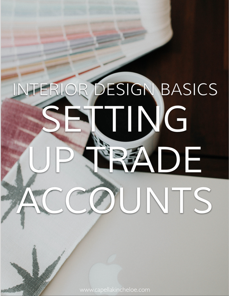 Interior Design Basics Setting Up Trade Accounts Capella Kincheloe - What is a proforma invoice online thrift store furniture