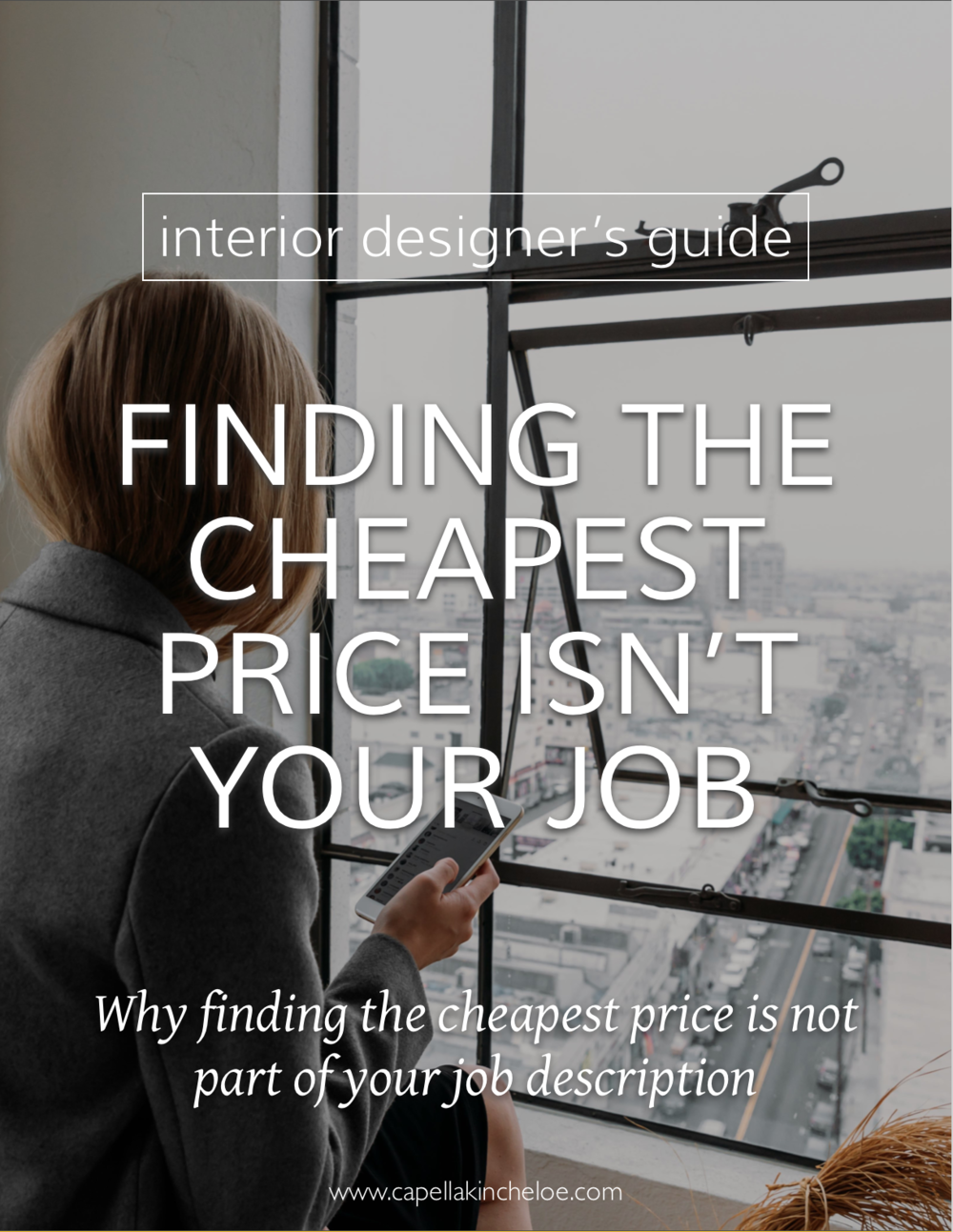 Clients want you to find them the cheapest price on item?  Learn why that should not be your job.