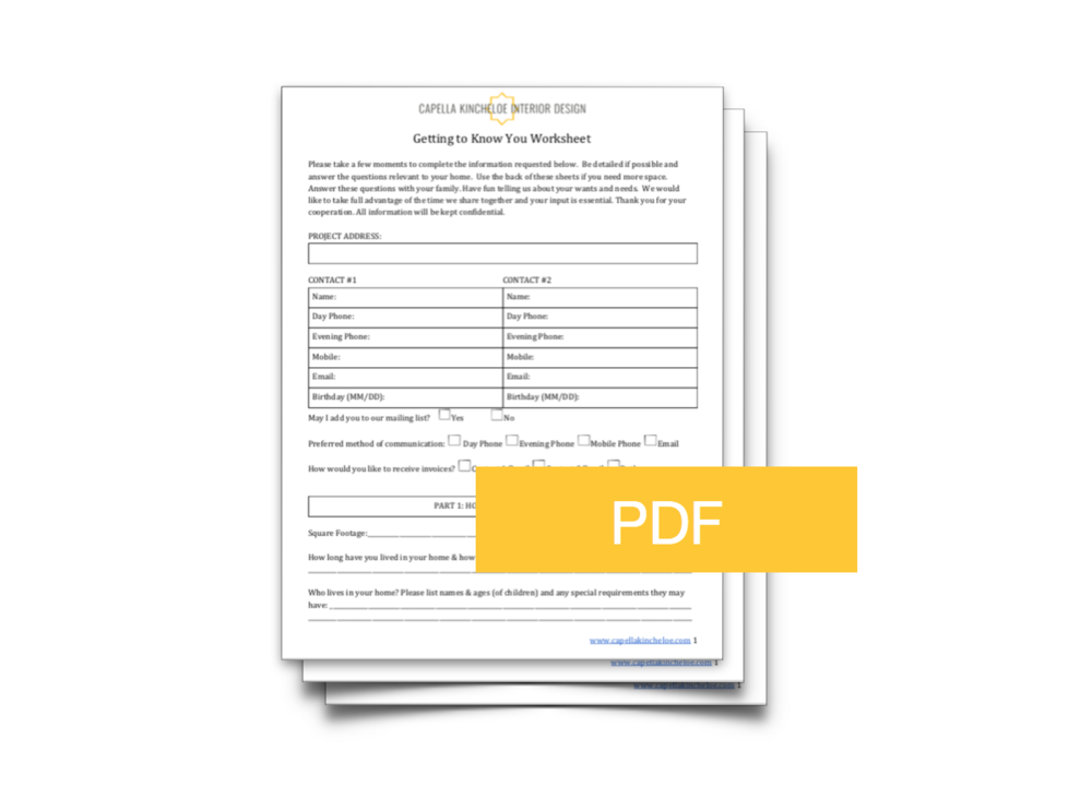 Genial Client Questionnaire Template. Interior Design ...