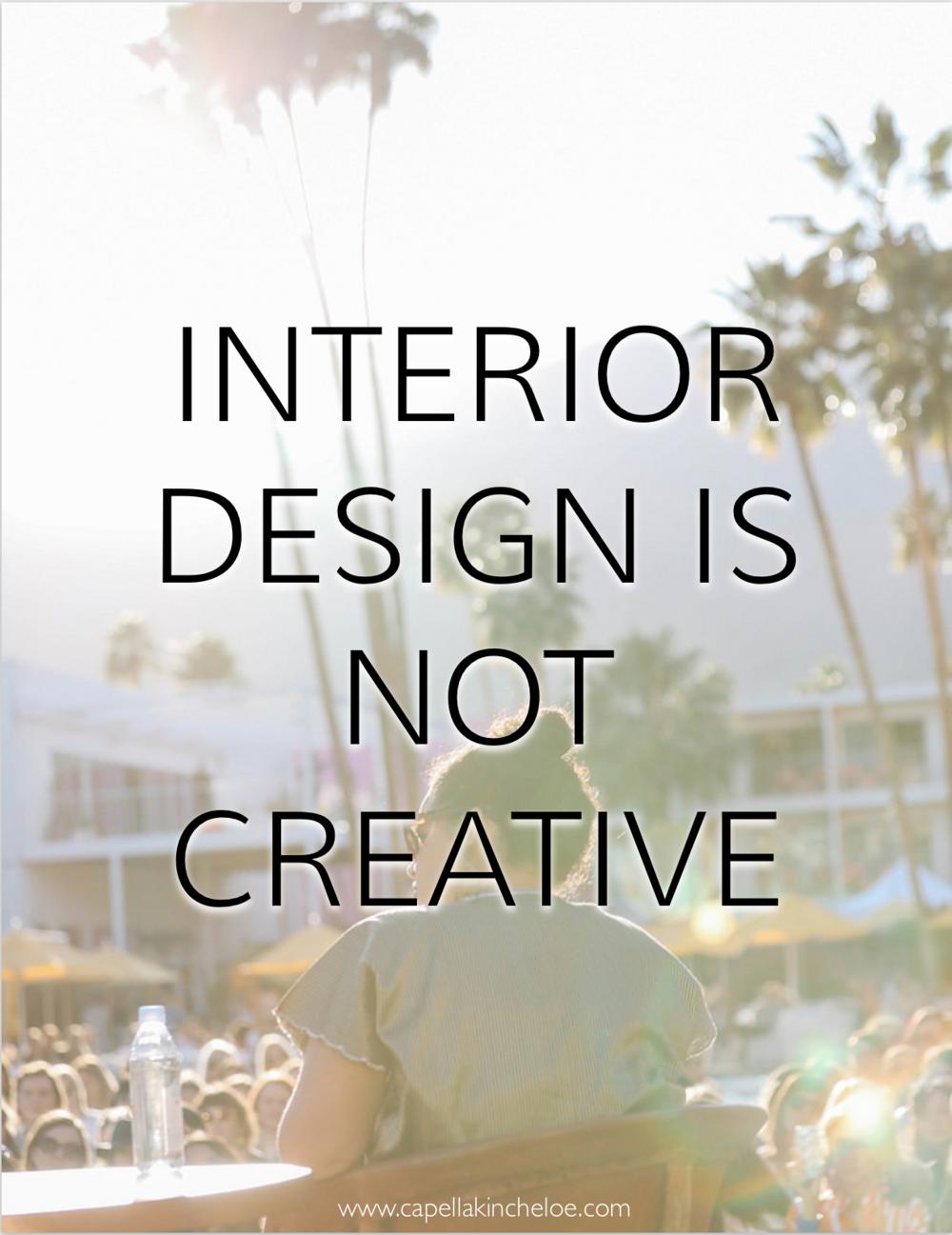 """Interior design is not creative"" - Justina Blakeney #interiordesignbusiness #businessofdesign #cktradesecrets #creativity"