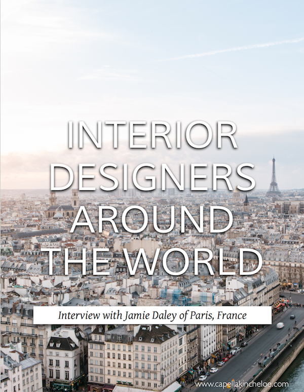 Learn about the business of running an interior design business from designers around the world #jamiedaley #interiordesignbusiness #designersaroundtheworld #cktradesecrets